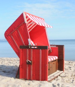 Standard Strandkorb rot