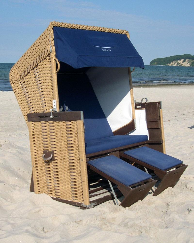 luxus xl strandkorb ostsee strandkorb binz r gen. Black Bedroom Furniture Sets. Home Design Ideas