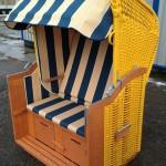 Königsstuhl Sonderedition PVC gelb, Markise blau Multistreifen gelb