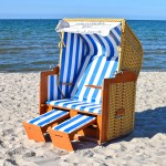 Vollliege Strandkorb