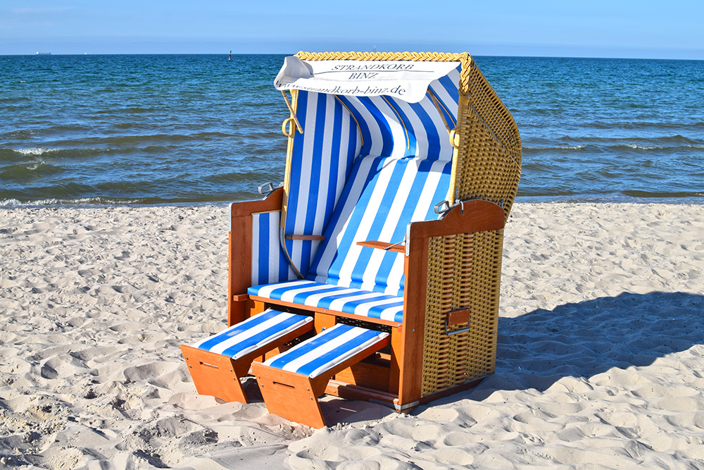vollliege strandkorb ostsee strandkorb binz r gen. Black Bedroom Furniture Sets. Home Design Ideas