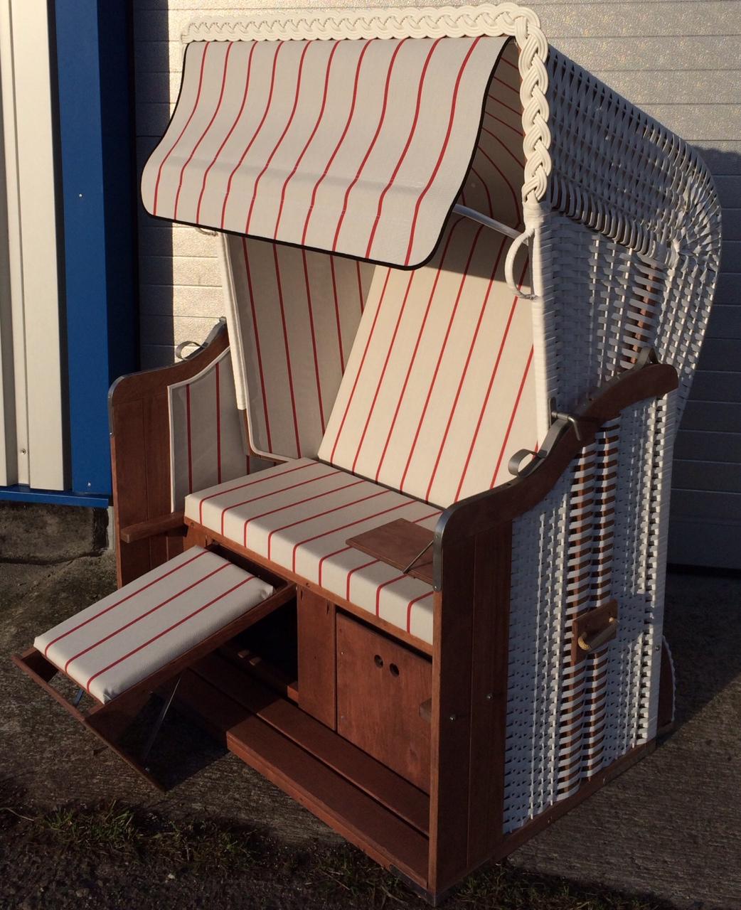 k nigsstuhl wei sonderedition markise grau rot ostsee. Black Bedroom Furniture Sets. Home Design Ideas