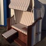 Königsstuhl Sonderedition PVC- weiß Markise grau- rot